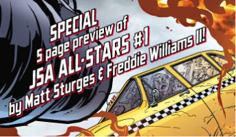 Releasing next month is the very first issue of JSA All-Stars. Devastating blow after blow has finally pushed the JSA to its limit, and to relieve the pressure, the JSA...