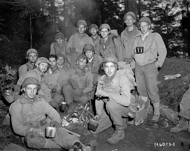 "Some of the ""Lost Battalion"" after being rescued"