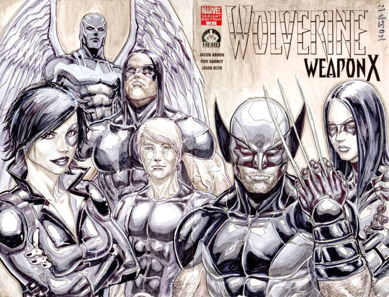X-Force artist Mike Choi's cover. With 4 days left, the bidding is already at $357.99!