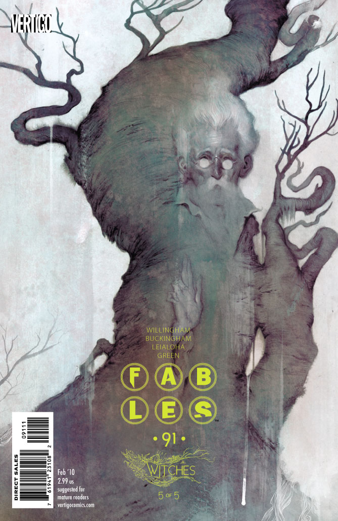 "Coming out next Wednesday, December 16th, is Fables #91 written by Bill Willingham with art by Mark Buckingham and Steve Leialoha. The issue is the conclusion to the ""Witches"" story..."