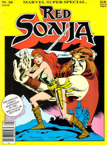 Red Sonja is a character from the Conan the Barbarian series, which was created by Roy Thomas and Barry Windsor-Smith.  She was adapted from the character Red Sonya of Rogatino...