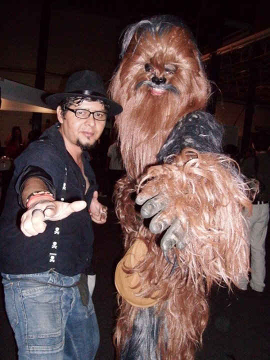 """This Wookie owes John a """"Life Debt"""" after John saved him from eating at the Con's burrito bar."""