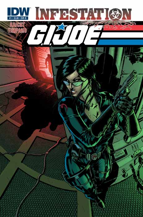 G.I. Joe: Infestation #1 Publisher: IDW Writer: Mike Raicht Artist: Giovanni Timpano Cover: Giovanni Timpano & J. Brown Infestation has...