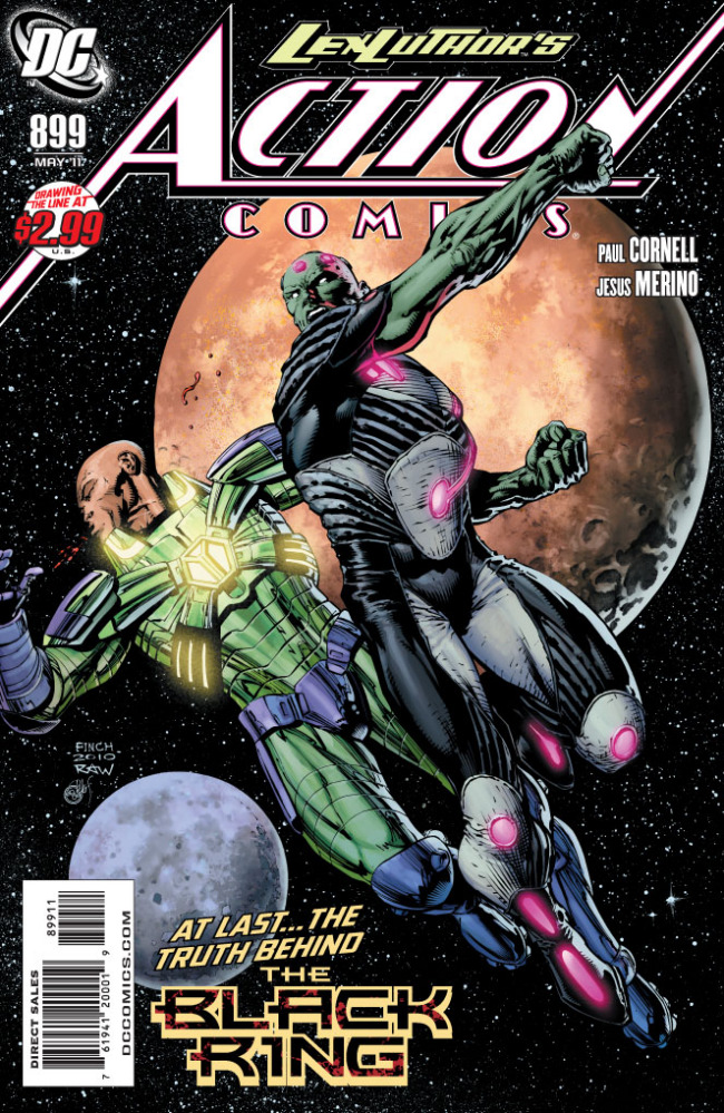 Action Comics #899 (DC) Andy: Lex Luthor kicks alien ass! One of the most underrated DC books on the shelves....