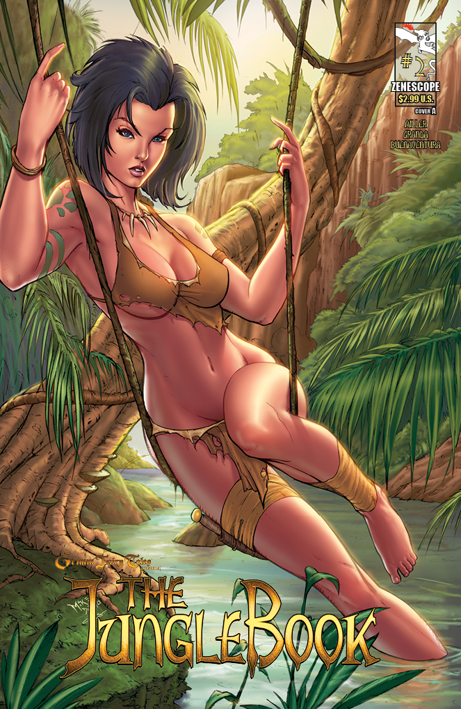 The Jungle Book #2 Publisher: Zenescope Writer: Mark Miller Artist: Carlos Granda (cover by Mike Debalfo) Colors: Liezl Buenaventura Mowglii...