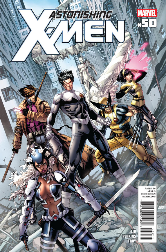Astonishing X-Men #50 Writer: Marjorie Liu Artist: Mike Perkins The X-Men investigate a recent attack on them by members of the Marauders and the trail leads them to a Natchi...