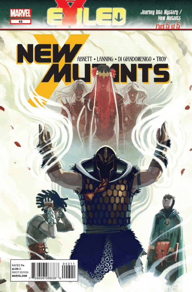 New Mutants #43 Writer: Dan Abnett, Andy Lanning & Kieron Gillen Artist: Carmine Di Giandomenico Exiled part 5, the conclusion is here.  The New Mutants find out that one...