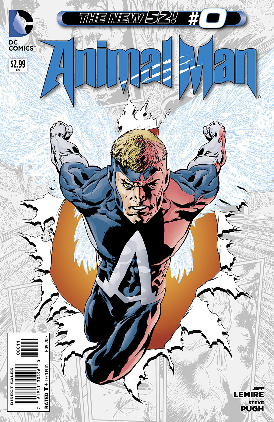 Animal Man #0 Writer: Jeff Lemire Artists: Steve Pugh and Lovern Kindzierski Cover Artists: Steve Pugh and Lovern Kindzierski Publisher: DC Animal Man, in passing, seems like one of the...