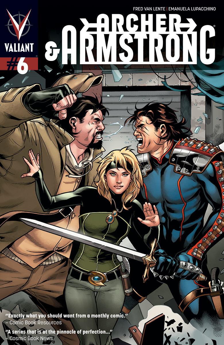 Archer & Armstrong #6 Publisher: Valiant Writer: Fred Van Lente Artist: Emanuela Lupacchino Cover: Emanuela Lupacchino As the death of...