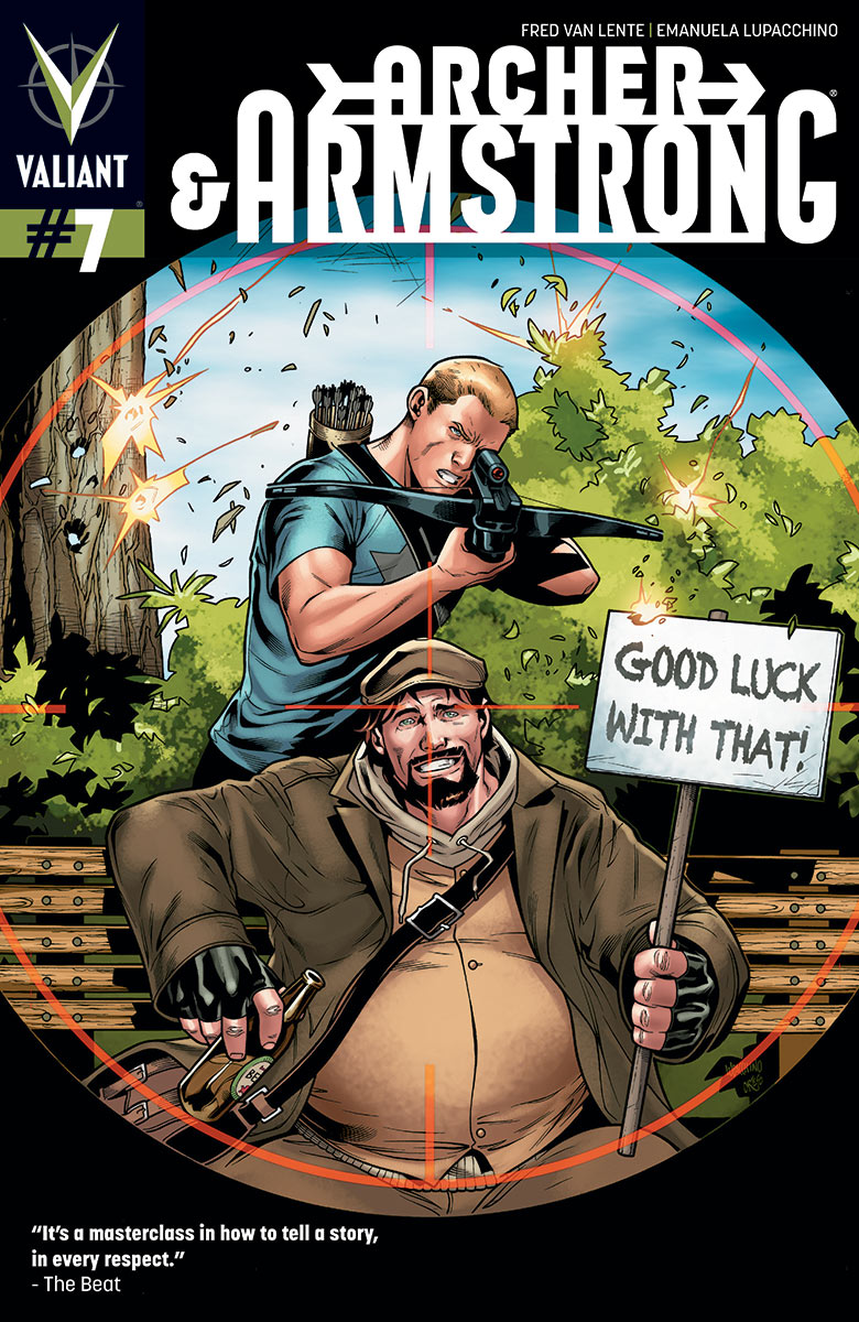 Courtesy of Valiant, here is a five page preview of Archer & Armstrong #7 with variant cover by Clayton Henry!...