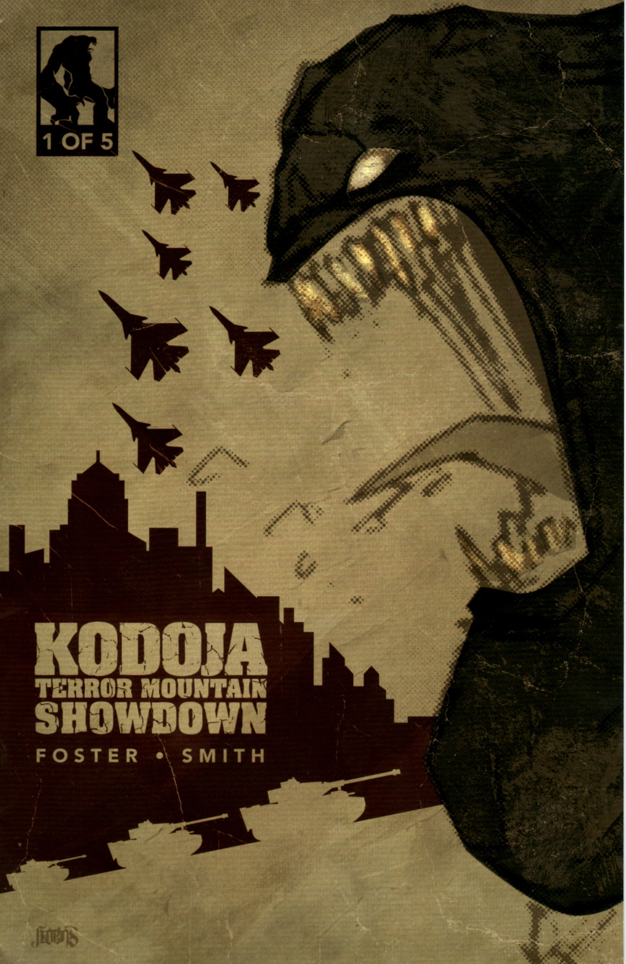 Kodoja: Terror Mountain Showdown Publisher: Self-published Writer: Keith Foster Artist: Rory Smith (cover by Elroy Jenkins) Editor/Art Director: Lance Pilgrim In the vein of Godzilla, Rodan, and Mothra comes Kodoja!...