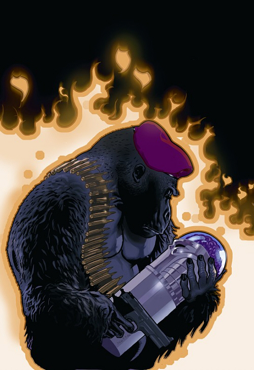 We arrive to one of my favorite characters in all of comics, and one of my favorite couples in comics. Monseiur Mallah and the Brain, a super-intelligent, talking gorilla, and...