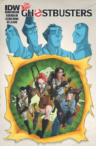The New Ghostbuters #2 Publisher: IDW Writer: Erik Burnham Artist: Dan Schoening Cover: Dan Shoening Egon, Winston, Ray, and Peter...