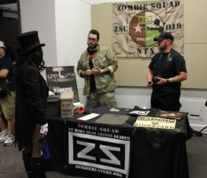 These guys are from Zombie Squad, a national disaster prep and relief organization (http://zombiehunters.org/).