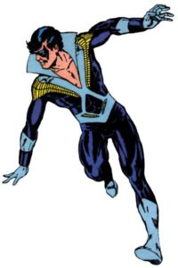 "The original ""disco"" Nightwing costume"