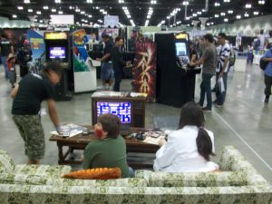 Videogame History Museum had tons of free videogames to play!