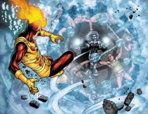 Killer_Frost and Firestorm