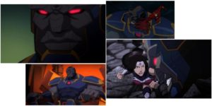 Darkseid can't make up his mind on how much of the screen he wants to take up