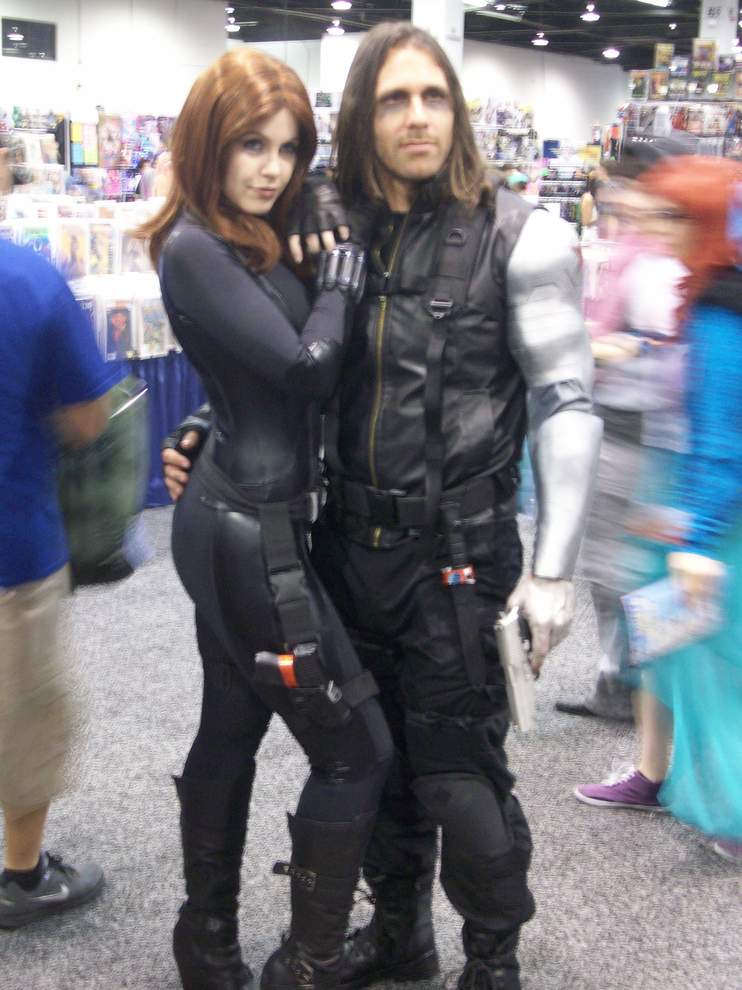 speaking of winter soldier cosplay the amount of couple cosplays and    Winter Soldier Cosplay Wondercon 2014