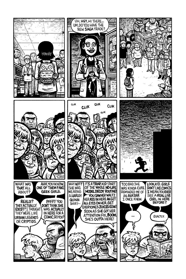 One of the few non-profanity laden pages from Eltingville Club #1.