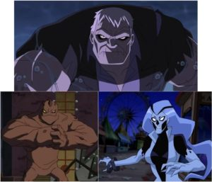 Grundy, Clayface and Silver Banshee