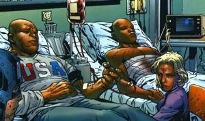 Patriot Elijah_Bradley_(Earth-616)_and_Isaiah_Bradley_(Earth-616)_blood_transfusion