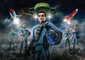 From ITV Studios / Pukeko Pictures / Weta Workshop Thunderbirds Are Go on ITV and CITV Pictured: Virgil, John, Scott, Gordon and Alan. This photograph is (C) ITV Plc and can only be reproduced for editorial purposes directly in connection with the programme or event mentioned above, or ITV plc. Once made available by ITV plc Picture Desk, this photograph can be reproduced once only up until the transmission [TX] date and no reproduction fee will be charged. Any subsequent usage may incur a fee. This photograph must not be manipulated [excluding basic cropping] in a manner which alters the visual appearance of the person photographed deemed detrimental or inappropriate by ITV plc Picture Desk. This photograph must not be syndicated to any other company, publication or website, or permanently archived, without the express written permission of ITV Plc Picture Desk. Full Terms and conditions are available on the website www.itvpictures.com For further information please contact: james.hilder@itv.com / 0207 157 3052