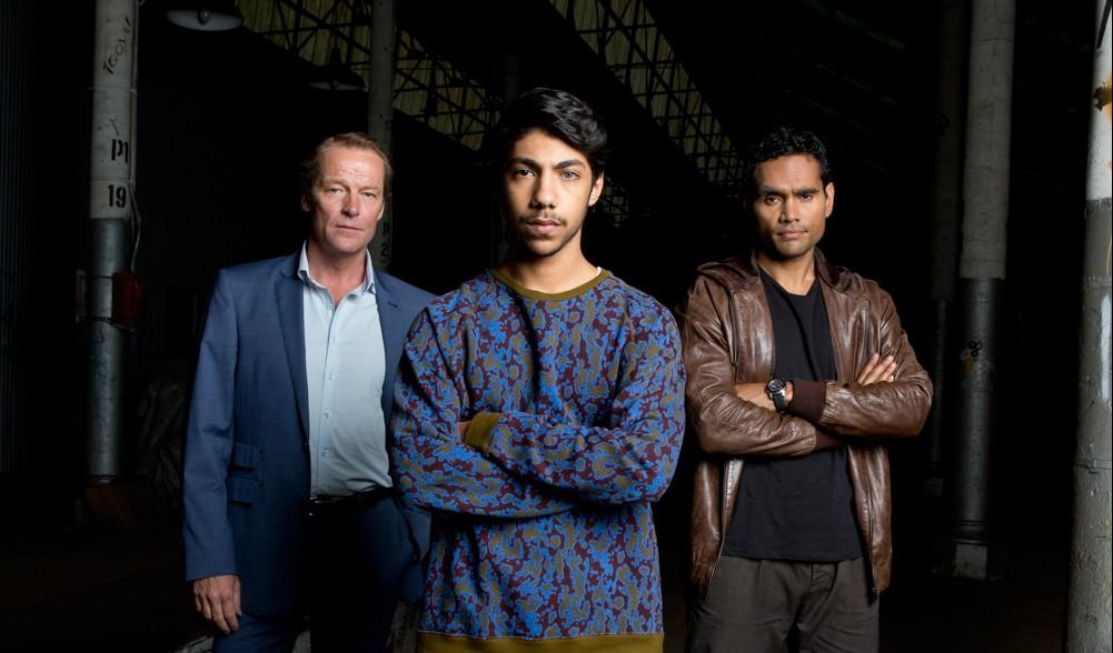L to R: Jarrod Slade (Ian Genn), Koen West (Hunter Page-Lochard), & Waruu West (Rob Collins)