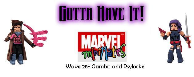 Gambit and Psylocke Minimates