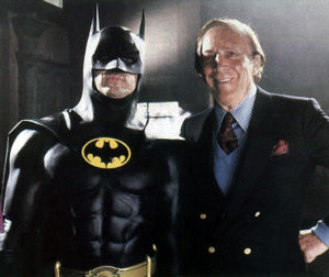 Bob Kane with Michael Keaton