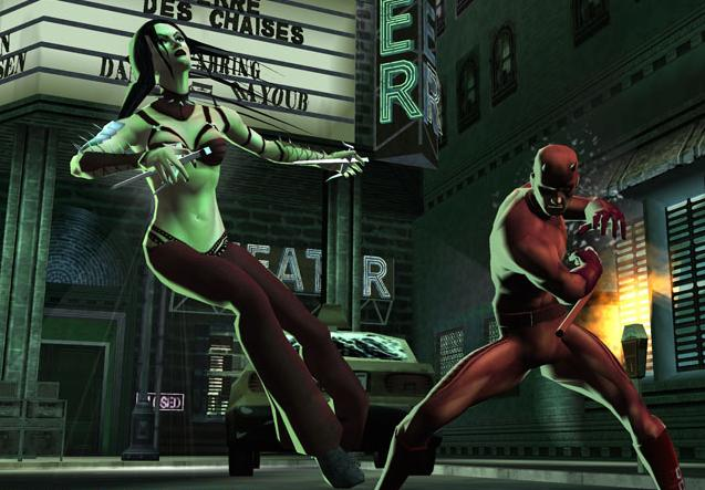 Daredevil putting the smackdown on Elektra in Marvel Nemesis