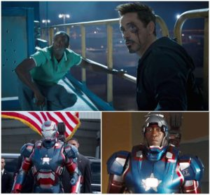 Don Cheadle ROCKS as War Machine!  His password even says so!