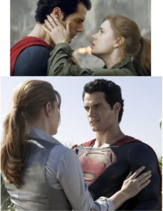Lois and Superman share a few short-lived quiet moments in between the action