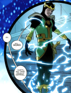 Kid Loki floating