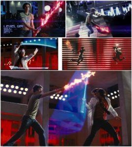 Fiery Katana vs 8-Bit Light-Katana! SWEET!