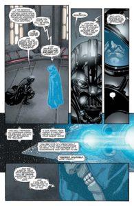 Vader gets a pep-talk.
