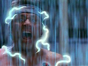 """Banner's electrocutes himself to induce a """"hulk-out"""" ... for SCIENCE!"""