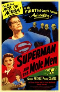 Look up in the sky! It's George Reeves falling off of wire!