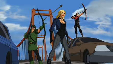 Black_Canary_and_The_Arrows