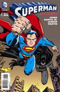 Superman #33 Batman 75th Variant Cover