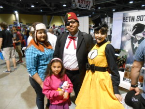 Not pictured, Mabel cosplayer's reaction upon meeting Bill Cypher cosplayer for the first time
